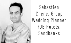Sebastien Chene, Wedding Planner at The Sandbanks Hotel, Harbour Heights and The Haven Hotel